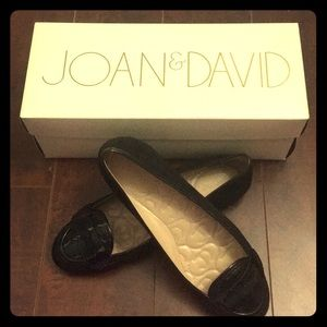 A barely used JOAN & DAVID suede loafers